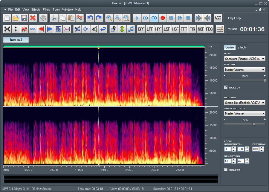 Audio spectrum maker online